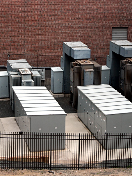 Image of an electrical switchyard.