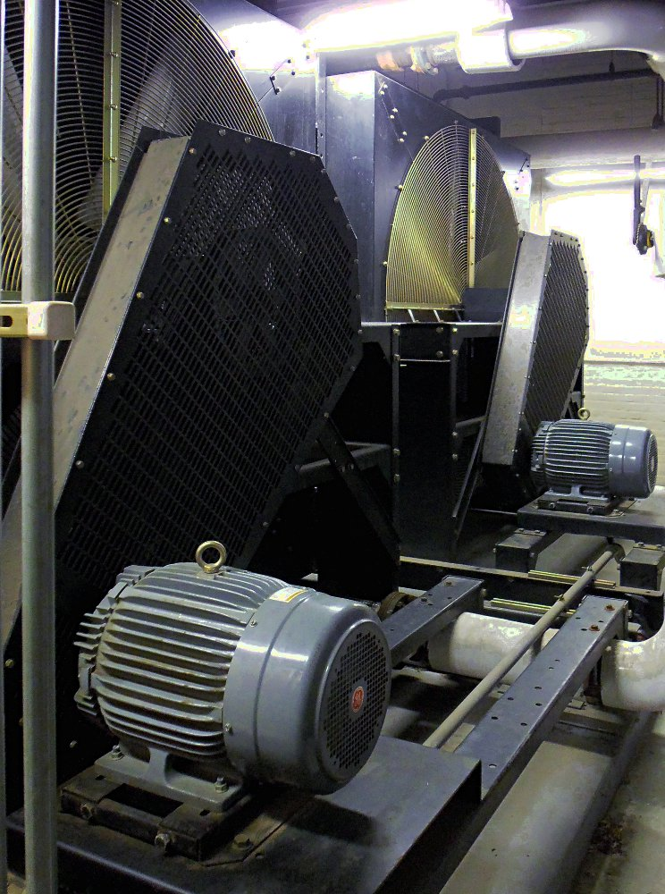 Image of two large remote radiators for 1400KW generators